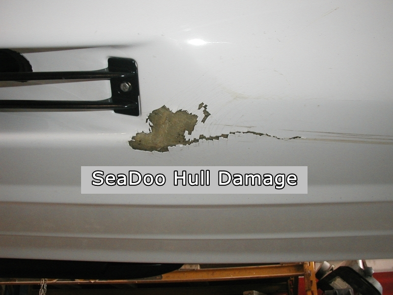 800W SeaDoo Hull Damage