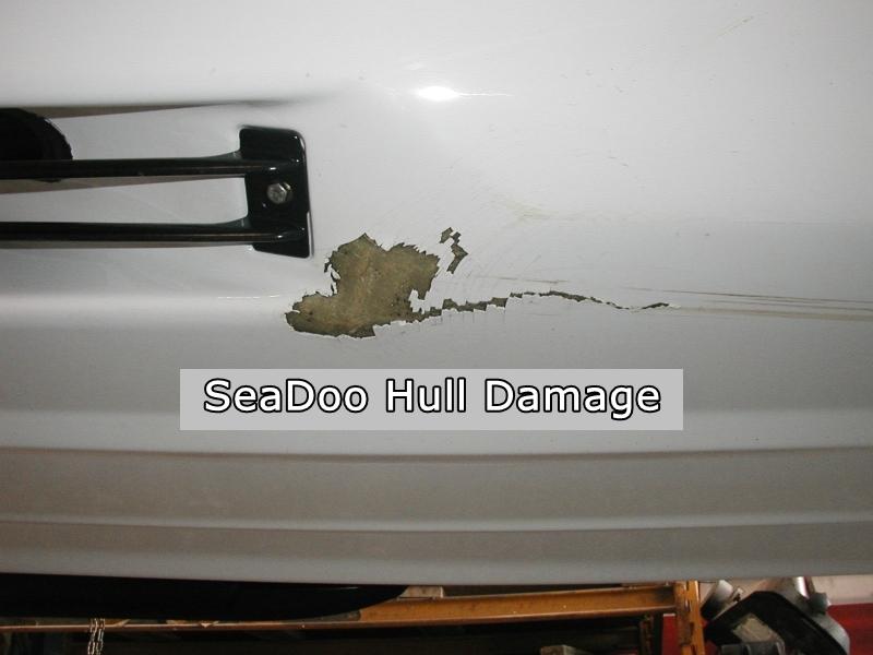 800W SeaDoo Hull Damage